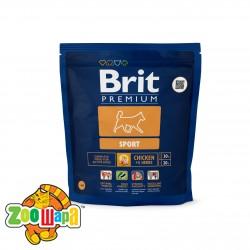 Brit Premium Сухой корм для взрослых собак всех пород Sport (1 кг)