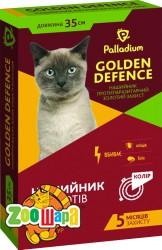 Palladium Golden Defence ошейник противопаразитарный (пропоксур) для кошек, 35 см белый