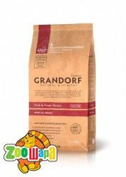 Grandorf Grandorf Duck & Potato All Breeds - утка для взрослых собак, 12 кг