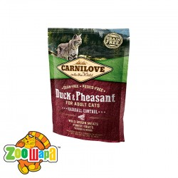 Carnilove сухой корм для кошек для выведения комков шерсти Duck & Pheasant Hairball Control (400 г)  с уткой и фазаном