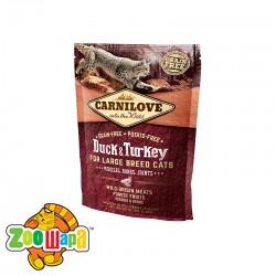 Carnilove Сухой корм для взрослых крупных кошек Duck & Turkey Large Breed (400 г) с уткой и индейкой