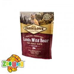 Carnilove Сухой корм для взрослых стерилизованных кошек Lamb & Wild Boar - Sterilised (400 г) с ягненком и мясом дикого кабана