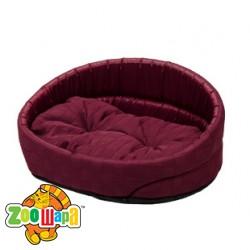 Природа Лежак для собак ЛЮКС 2 (52x36x20 см) бордовый