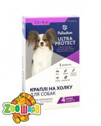 Palladium Ultra Protect КАПЛИ НА ХОЛКУ ULTRA PROTECT ОТ БЛОХ И КЛЕЩЕЙ ДЛЯ СОБАК ВЕСОМ 1,5-4 КГ