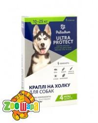 Palladium Ultra Protect КАПЛИ НА ХОЛКУ ULTRA PROTECT ОТ БЛОХ И КЛЕЩЕЙ ДЛЯ СОБАК ВЕСОМ 10-25 КГ