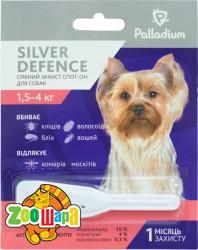 Palladium Silver Defence КАПЛИ НА ХОЛКУ SILVER DEFENCE ОТ БЛОХ, КЛЕЩЕЙ И КОМАРОВ ДЛЯ СОБАК ВЕСОМ 1,5-4 КГ
