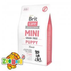 Brit Care Сухой корм для щенков миниатюрных пород Mini Puppy GF Lamb & Rice (2 кг) c ягненком и рисом