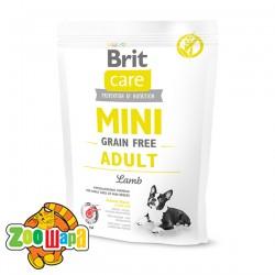 Brit Care GF Mini Adult Lamb (400 г) сухой корм с ягненком  для взрослых собак миниатюрных пород