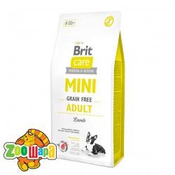 Brit Care GF Mini Adult Lamb (2 кг) сухой корм с ягненком для взрослых собак миниатюрных пород