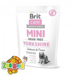 Brit Care GF Mini Yorkshire  (400 г) сухой корм с лососем и тунцом для взрослых собак породы йоркширский терьер