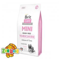 Brit Care GF Mini Yorkshire (2 кг) сухой корм с лососем и тунцом для взрослых собак породы йоркширский терьер