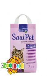 Природа Наполнитель бентонитовый SANI PET для кошек с лавандой средний (2,5 кг)