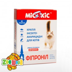 МиС КиС Капли на холку от блох и клещей для кошек ФИПРОНИЛ (0,8 мл)