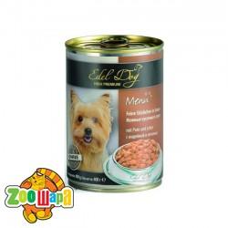 Edel Dog влажный корм для собак ИНДЕЙКА И ПЕЧЕНЬ (0,4 кг) консерва