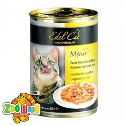 Edel Cat влажный корм для кошек КУРИЦА И УТКА (400 г) консерва