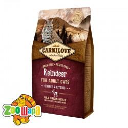 Carnilove Сухой корм для взрослых активных кошек Raindeer Energy & Outdoor (2 кг) с мясом северного оленя