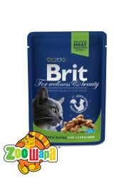 Brit Premium Влажный корм Cat pouch курица для взрослых кастрированных котов и стерилизованных кошек (100 g)