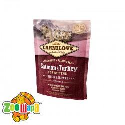 Carnilove Сухой корм для здорового роста котят Salmon & Turkey Kitten (400 г) с лососем и индейкой