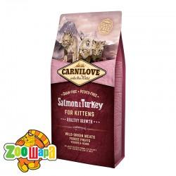 Carnilove Сухой корм для здорового роста котят Salmon & Turkey Kitten (6 кг) с лососем и индейкой
