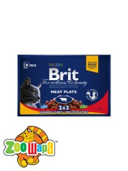 Brit Premium Влажный корм Cat pouch Мясная тарелка для кошек 400 г (4шт х 100g)