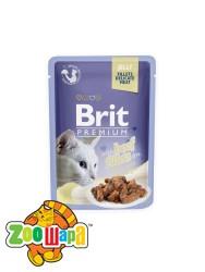 Brit Premium Влажный корм Cat pouch Филе говядины в желе для кошек (85 g)