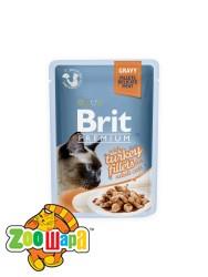 Brit Premium Влажный корм Cat pouch Филе индейки в соусе для кошек (85 g)