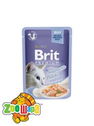 Brit Premium Влажный корм Cat pouch Филе лосося в желе для кошек (85 g)
