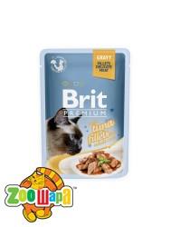 Brit Premium Влажный корм Cat pouch Филе тунца в соусе для кошек (85 g)