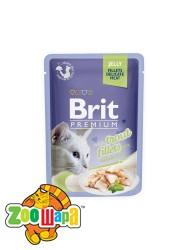 Brit Premium Влажный корм Cat pouch Филе форели в желе для кошек (85 g)