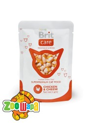 Brit Care Cat Влажный корм Курица и сыр для кошек pouch  (80g)