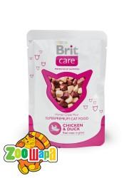 Brit Care Cat Влажный корм Курица и утка для кошек pouch  (80g)