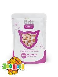 Brit Care Cat Влажный корм Морcкой окунь для кошек pouch  (80g)