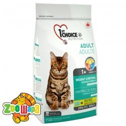 1st Choice Сухой корм для взрослых кошек склонных к полноте Weight Control Adult (0,35 кг) контроль веса