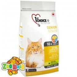 1st Choice Сухой корм для пожилых или малоактивных кошек Senior Mature Less Aktiv (5,44 кг)