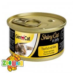 """Gimpet Влажный корм для кошек """"Тунец и сыр"""" кусочки в желе Gimcat ShinyCat Filet (70 г)"""