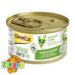 """Gimpet Влажный корм для кошек """"Курица и яблоко"""" паштет GimCat Superfood ShinyCat DUO (70 г)"""