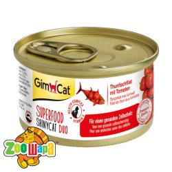 """Gimpet Влажный корм для кошек """"Филе тунца с томатами"""" GimCat Superfood ShinyCat DUO (70 г)"""