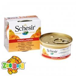 Schesir Влажный корм для кошек Tuna Papaya тунец с папайей в желе (75 г)