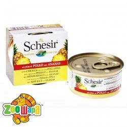 Schesir Влажный корм для кошек Chicken Pineapple филе курицы с ананасом (75 г)