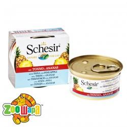 Schesir Влажный корм для кошек Tuna Pineapple тунец с ананасом в желе (75 г)