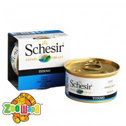 Schesir Влажный корм для кошек Tuna тунец в желе (85 г)