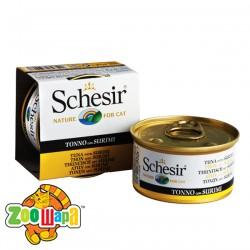 Schesir Влажный корм для кошек Tuna Surimi тунец с сурими в желе (85 г)