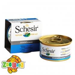 Schesir Влажный корм для кошек Tuna Natural Style тунец в собственном соку (85 г)