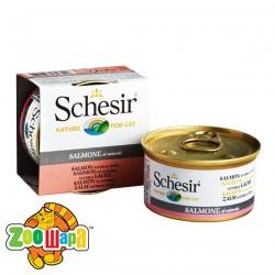 Schesir Влажный корм для кошек Salmon Natural Style лосось в собственном соку (85 г)