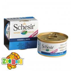 Schesir Влажный корм для котят Tuna Aloe Kitten тунец с алоэ и рисом (85 г)