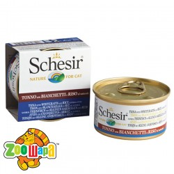Schesir Влажный корм для кошек Tuna Whitebait Rice тунец с мальками и рисом в собственному соку (85 г)