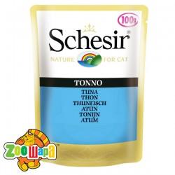 Schesir Влажный корм для кошек Tuna тунец в желе, пауч (100 г)