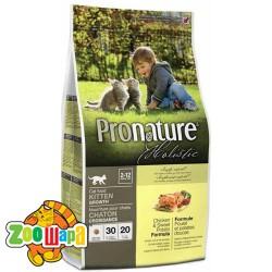 Pronature Holistic Сухой корм для котят всех пород Kitten Chicken&Sweet Potato курица и батат (2,72 кг)