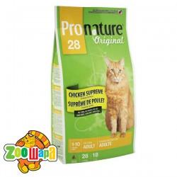 Pronature Original Сухой корм для взрослых котов Adult Chicken Supreme с курицей (5,44 кг)