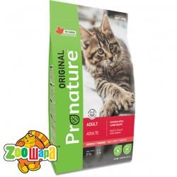 Pronature Original Сухой корм для взрослых котов Cat Chiсken Lamb с курицей и ягненком (0,34 кг)